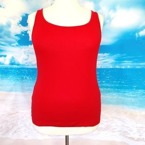 ❤️2/$25 NWOT Faded Glory Red Tank Top XXL